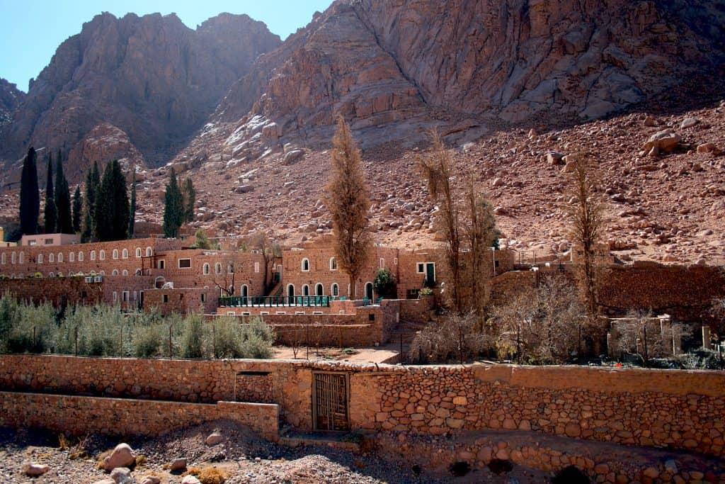 Saint Catherine's monastery On Mount Sinai in Egypt